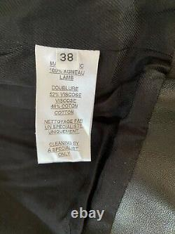 Balmain Womens Leather Jacket 38 Size