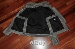 Balmain grey leather jacket size 50 RARE made in FRANCE $6000 GRAIL Decarnin
