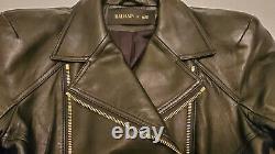 Balmain x H&M Leather Biker Motorcycle Jacket Rare US 6 EUR 36