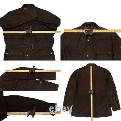 Barbour International BLACKWELL Men's Waxed Wax Belted Jacket Rustic Brown XL 44