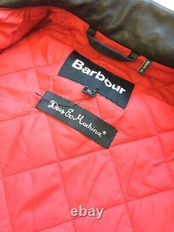 Barbour Mens Deus Ex Machina Niet Waxed Cotton Jacket Black Sz XL $550