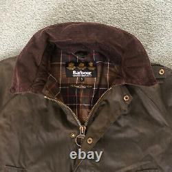 Barbour Olive Waxed Cotton Ashby Jacket Size S VGC