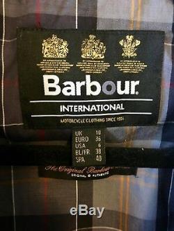 Barbour Tartan Wax Jacket 6 UK10 Excellent