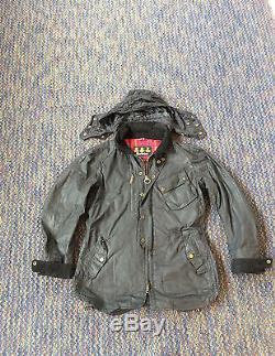 Barbour x Tokito Black Motorbike Shirt Jacket Size Large