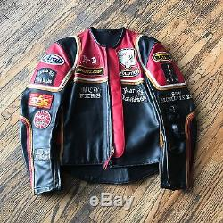 Bates vintage leather motorcycle jacket, Harley Davidson And The Marlboro Man