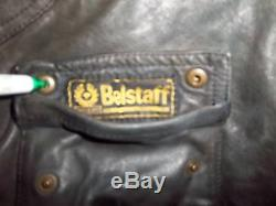 Belstaff Antique Grey Leather 1966 Panther Motorcycle Jacket Size XXL