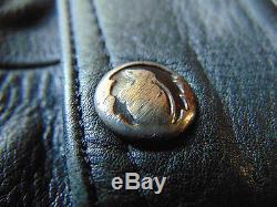 Belstaff Black Leather Padded Motorcycle Jacket. UK 40R, US Large