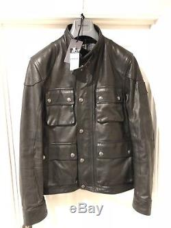 Belstaff Brad Leather Jacket, Black, Size 50 Ita/uk 40 M