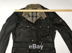 Belstaff England Roadmaster Waxed Wax Cotton Biker Jacket Mens Black 50 Large L