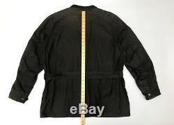 Belstaff Gold Label Roadmaster Waxed Wax Biker Jacket Dark Brown Mens XL 42 44