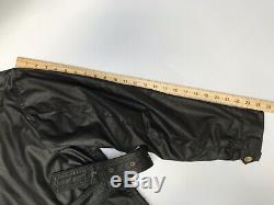 Belstaff International Trialmaster Mens Waxed Wax Biker Jacket BLACK Medium M