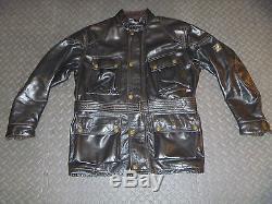 Belstaff Leather Panther M Jacket Motorcycle Medium Black Men's Trialmaster