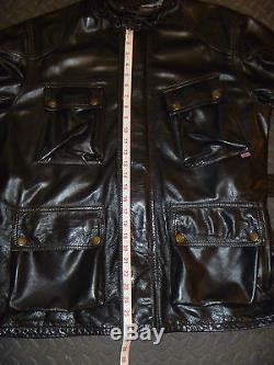 Belstaff Leather Panther M Jacket Motorcycle Medium to Large L Black US 40 43R