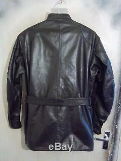 Belstaff Leather Panther Motorcycle Jacket Size XL
