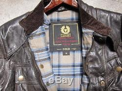 Belstaff Men's Brown Motorcycle Leather Jacket, Size M