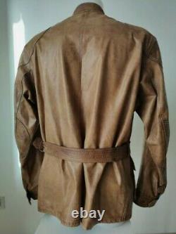 Belstaff Panther 1966 Leather Jacket, Antique Cuero, Malenotti, Size XXXL