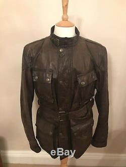 Belstaff Panther 1966 Leather Jacket in Brown RRP £1350 Made in Italy RA 36213