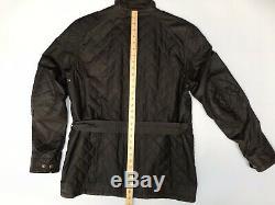 Belstaff Redford Roadmaster Mens Waxed Wax Biker Jacket Gold Label Brown Large L