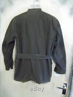 Belstaff Roadmaster Waxed Motorcycle Jacket Size 44