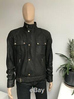 Belstaff STEVE MCQUEEN S-Icon Blouson 1964 Waxed Wax Biker Jacket Black Large L