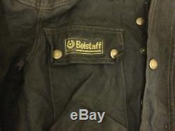 Belstaff Wax Cotton Trialmaster Motorcycle Jacket & Belt Large Fy61