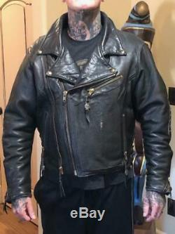 Bill Wall Leather Super Custom 1989 Vintage Mens Leather Jacket size XL BWL is