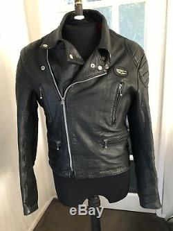 Black Motorcycle Vintage Lewis Leather Jacket Size 40