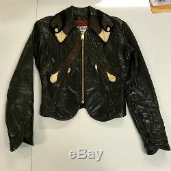 Black Parrot East West Leathers San Francisco Jacket