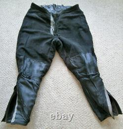 Black Vintage Police Leather Motorcycle Uniform Combo (Jacket and Breeches)