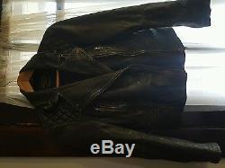 Blackish Grey All Saints Cargo Leather Jacket size uk8