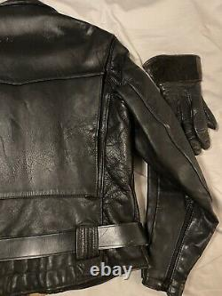 Buco Horsehide Leather Jacket Size 44, Cafe Racer Motorcycle 40s-50s Authentic