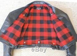 Buco J 21 Diamond Dave Horsehide Tea Core Shinki Leather Jacket Size 44-46
