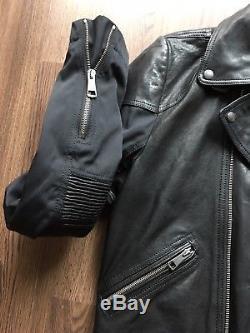 Burberry Brit Men's Leather Biker Jacket Size Medium