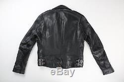 Burberry Brit Mens Black Leather Motorcycle Biker Jacket M Medium $1495