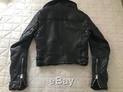 Burberry Britt Loseley Leather Jacket Biker /Motorcycle Us6 Uk8 It40 Fr38