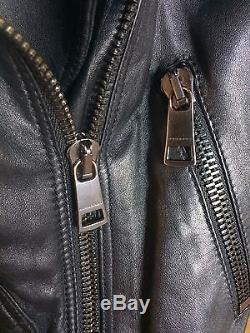 Burberry London Black Leather Moto Jacket