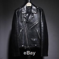 Burberry Prorsum Leather Jacket Mens Biker Runway Black