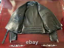 Burberry Prorsum XO Barneys Quilted Motorcycle Biker Leather Jacket IT50 US40