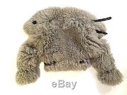 Burberry prorsum gray shearling cropped biker jacket IT40(M)