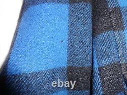CC FILSON Mens Black & Blue Mackinaw Wool Cruiser Jacket Sz 44
