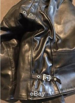 Cafe Racer Horsehide Leather Motorcycle Jacket, 44 SHIPPING only in cont. USA