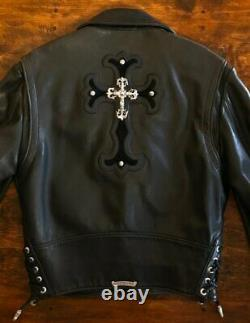 Chrome Hearts Special Edition HEAVY SILVER 1 of 1 JJ Dean Leather Biker Jacket