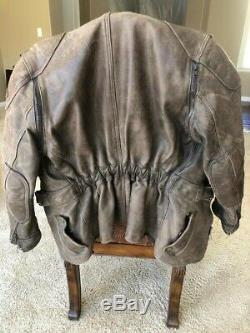 Classic Hein Gericke Leather Motorcycle Jacket, Brown, Late 80's, Size 42