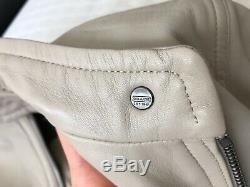 Coach lamb leather jacket size xs in taupe/beige F83635 value $798