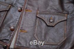 Colimbo Horse Hide Cossak Jacket 40 real mccoys freewheelers bootleggers