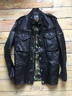 Comme Des Garcons JUNYA WATANABE MAN. 2007 Leather Biker Jacket. Size Medium