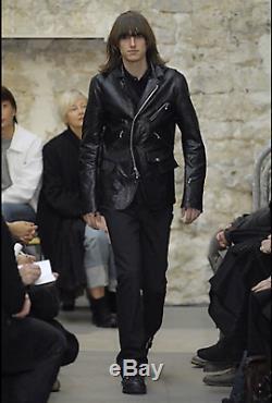 Comme des Garcons MAN Junya Watanabe runway black wool biker jacket size L