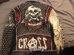 Custom Studded Punk Leather Jacket
