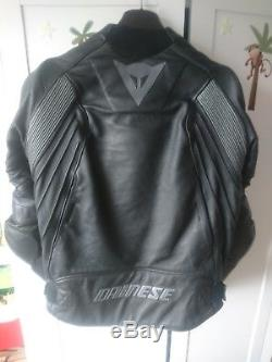 Dainese Avro D1 Motorcycle Leather Jacket Black/Anthracite Size 52