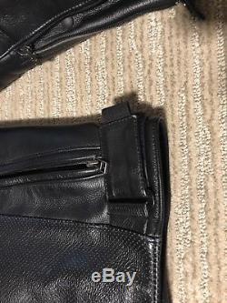 Dainese Black Leather Motorcycle Jacket